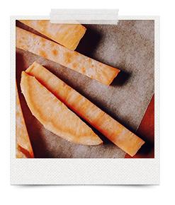 surowe bataty frytki