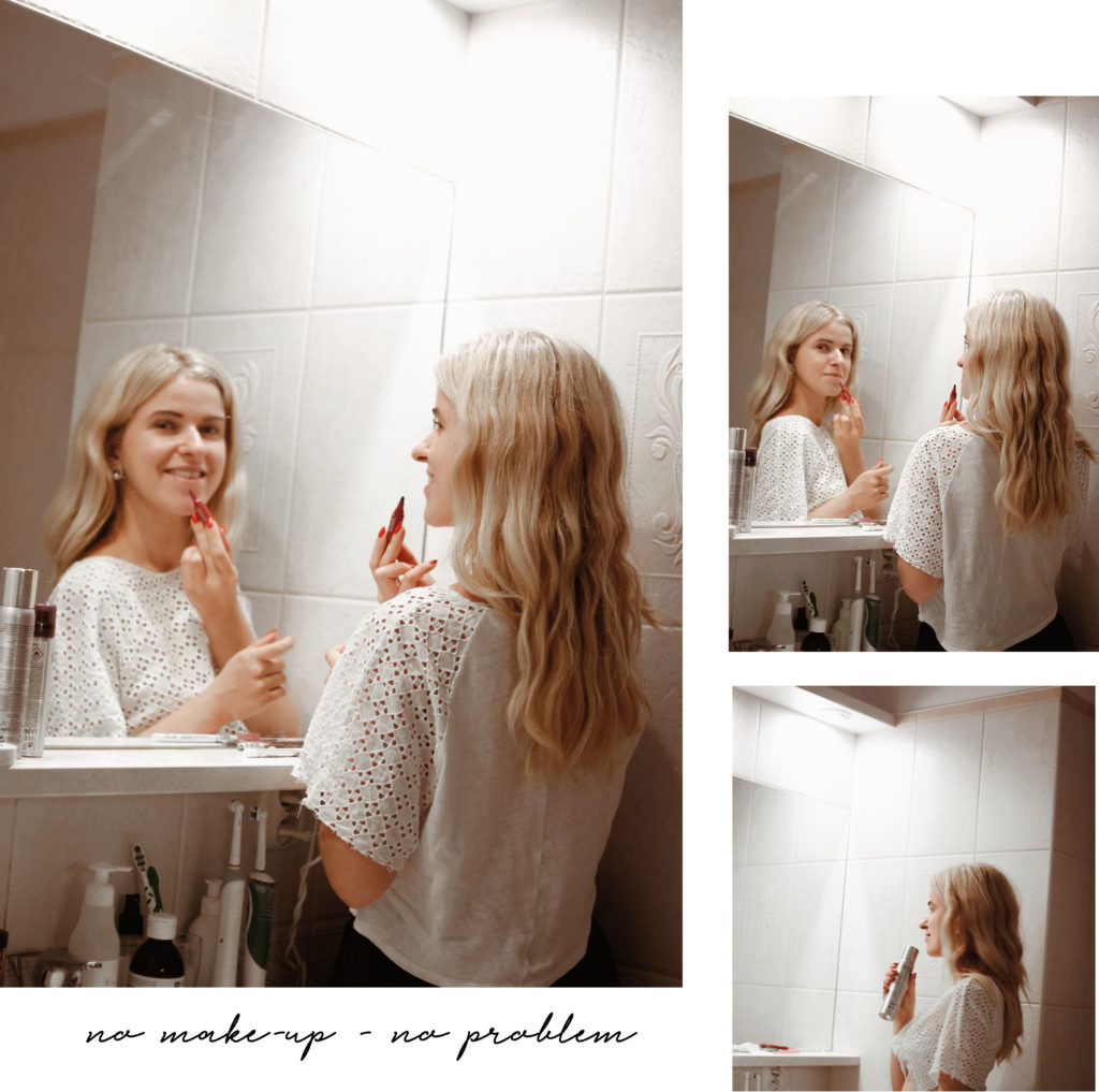 jak wyjść z domu bez makijażu