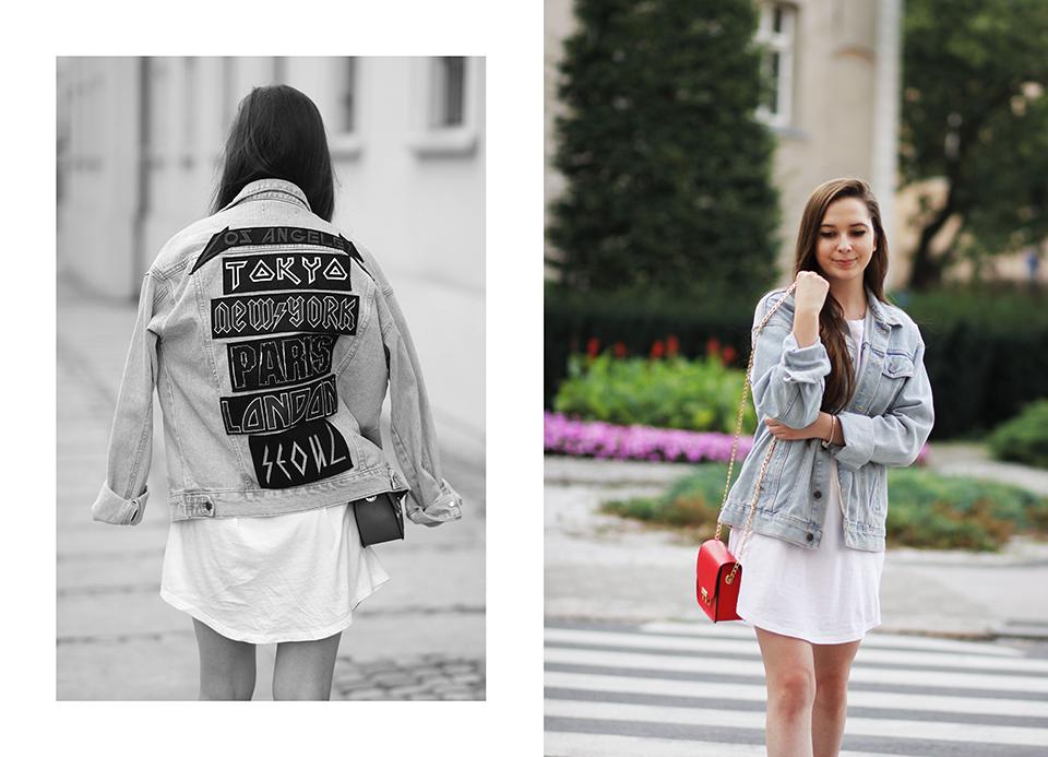 stylizacja z jeansową kurtką